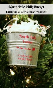 Farmhouse Galvanized Buckets Christmas Ornaments