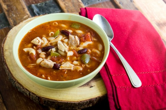 Rotisserie Chicken Minestrone Soup by The Black Peppercorn