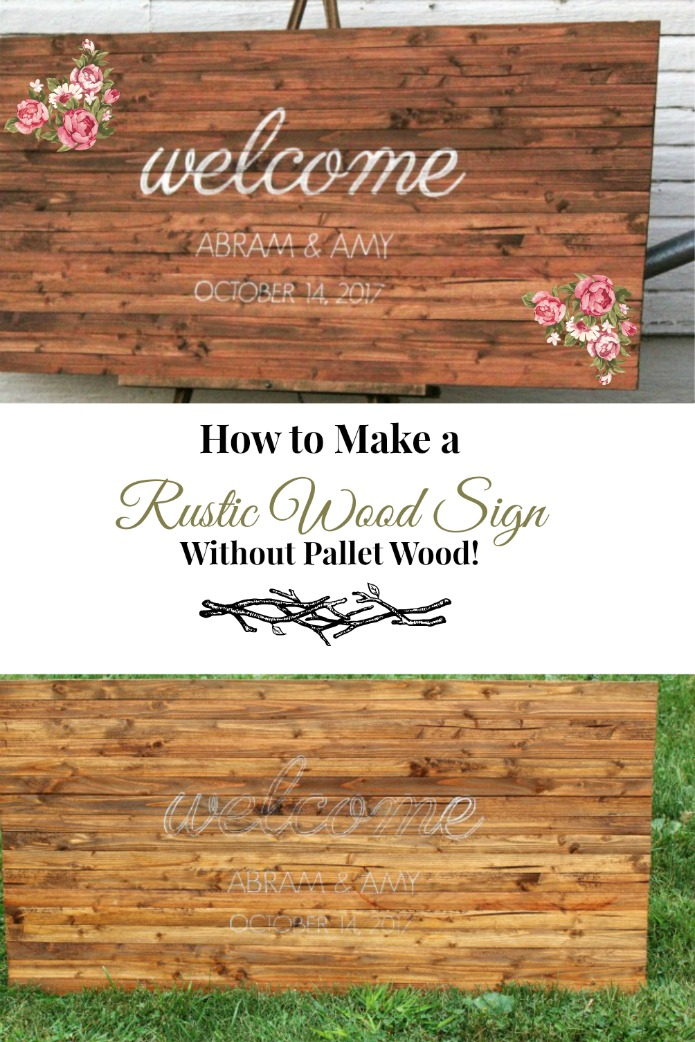 How to Make a Rustic Wooden Sign without pallet wood | www.knickoftime.net