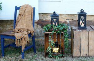 DIY Wedding Decorations | Crates & Lanterns for Outdoor Wedding | www.knickoftime.net