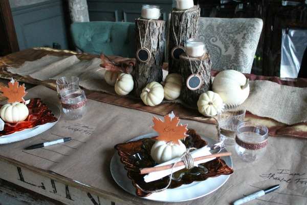 Thanksgiving Table Setting and Decor Ideas by The Magic Brush