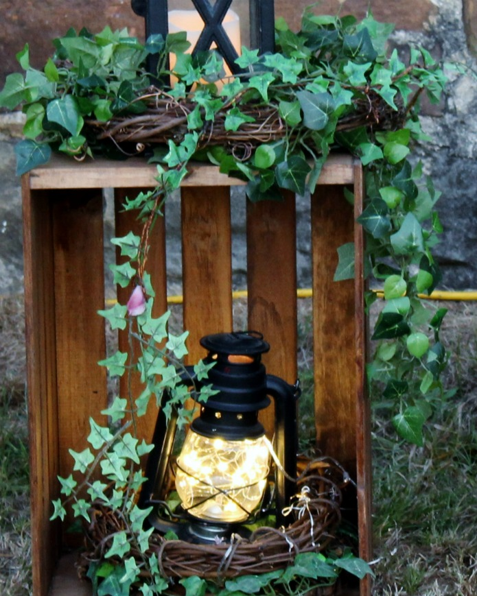 Wedding decor starry night fairy lights in a lantern | www.knickoftime.net