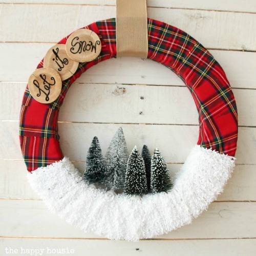 """Let It Snow"" Christmas Wreath"