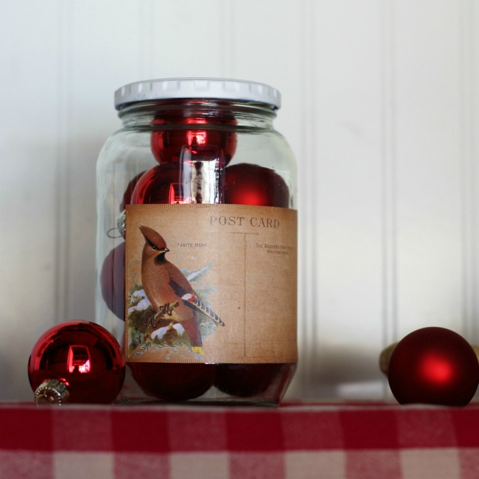 DIY Vintage Style Christmas Cookie and Candy Gift Jar | www.knickoftime.net