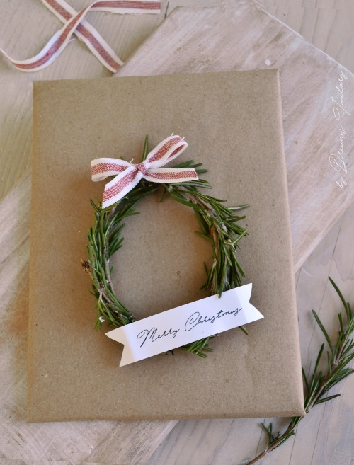 Christmas Rosemary Ribbon Wreaths
