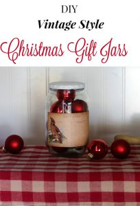 Vintage Style Decorative Christmas Gift Jar
