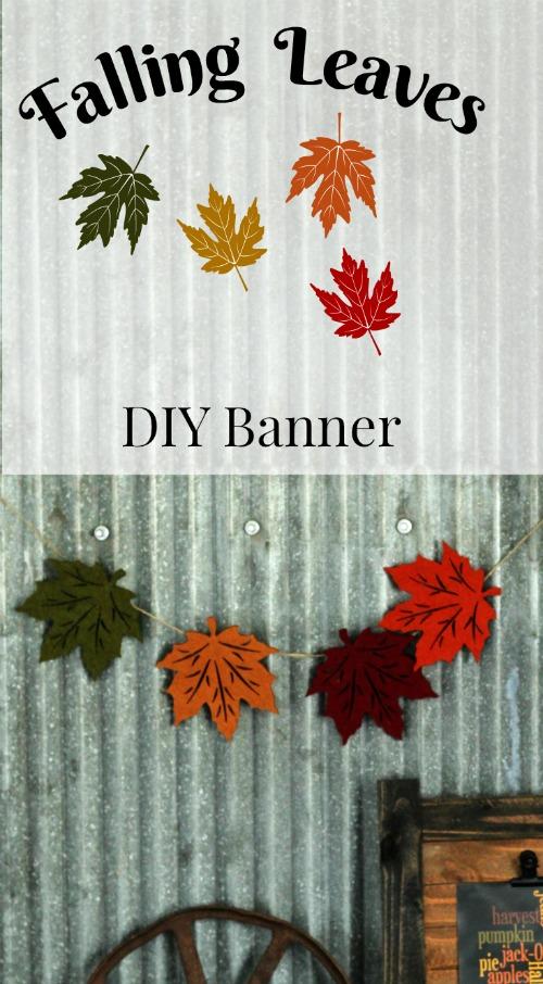 Falling leaves DIY Fall Banner | www.knickoftime.net