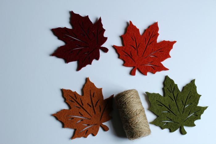 Falling leaves DIY garland supplies| www.knickoftime.net