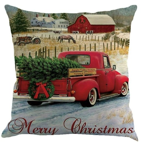 Old pickup truck Christmas Pillow