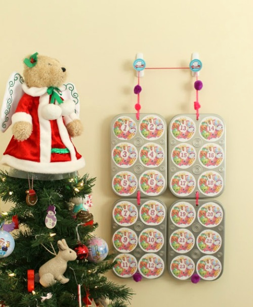 Toy filled Advent calendar