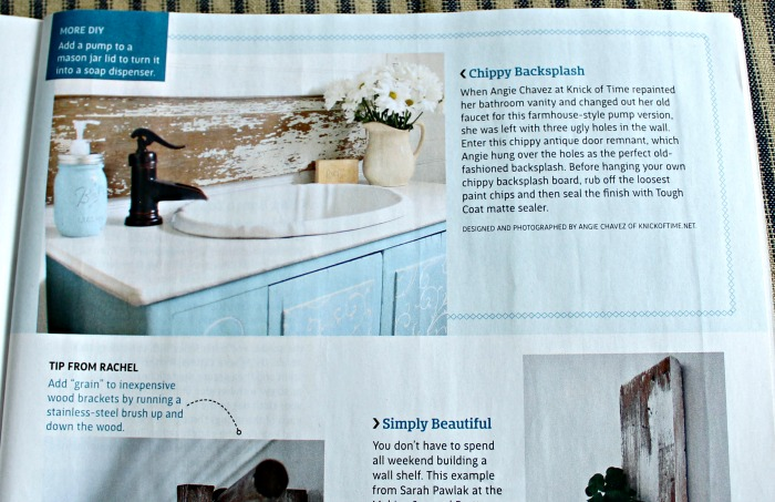 Magazine Features In Country Sampler Farmhouse Style And Homespun