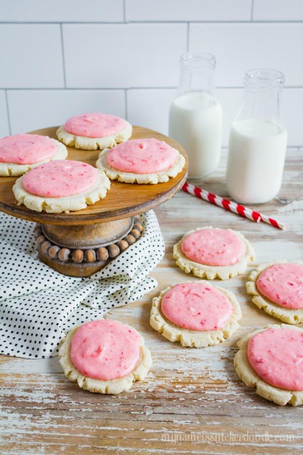 Strawberries and Cream Sugar Cookies by Lollie Jane