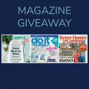 February Giveaway – 3 Magazine Subscriptions