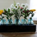 Rustic Wood Crate Mason Jar Centerpiece for Spring
