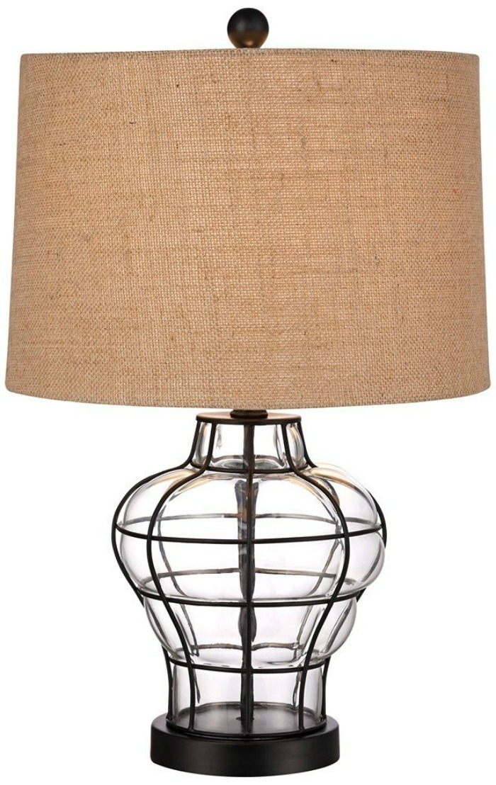 Modern Farmhouse End Table Lamp