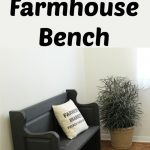 My New Farmhouse Entry Bench from an Old Door
