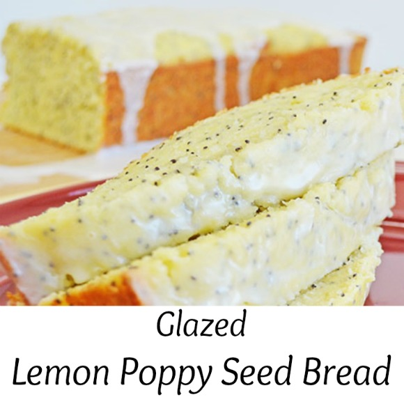 Heavenly Easy Glazed Lemon Poppy Seed Bread Recipe | www.knickoftime #quick bread #recipe