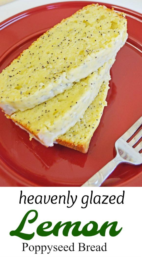 Heavenly Easy Glazed Lemon Poppy Seed Bread Recipe | www.knickoftime #quick bread #recipe