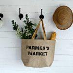 Farmer's Market DIY Shopping Bag, Vacation, & a Giveaway