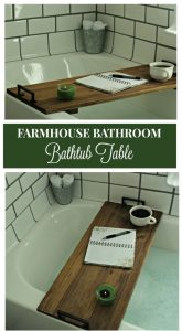 DIY Bathtub Tray Table: Bathroom Remodel Project
