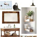 Farmhouse Master Bathroom Style Board & Plans