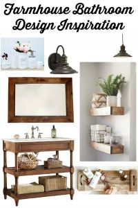 Farmhouse Master Bathroom Style Board & Plans