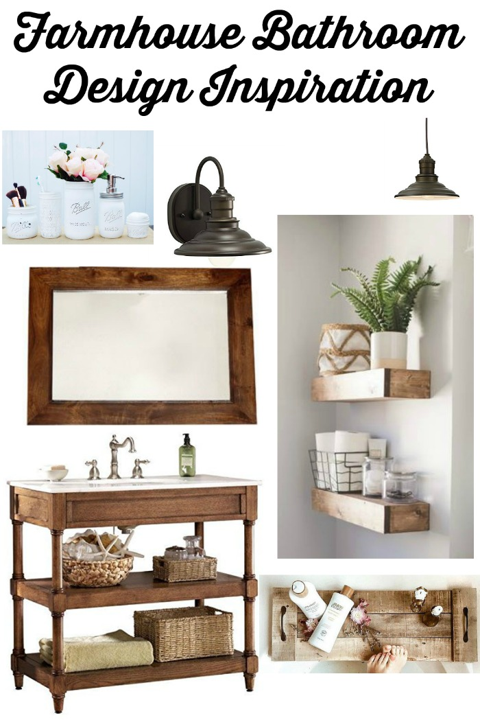 Farmhouse Master Bathroom Design Inspiration Board by Knick of Time | www.knickoftime.net #KnickOfTime #farmhousestyle #bathroom #makeover