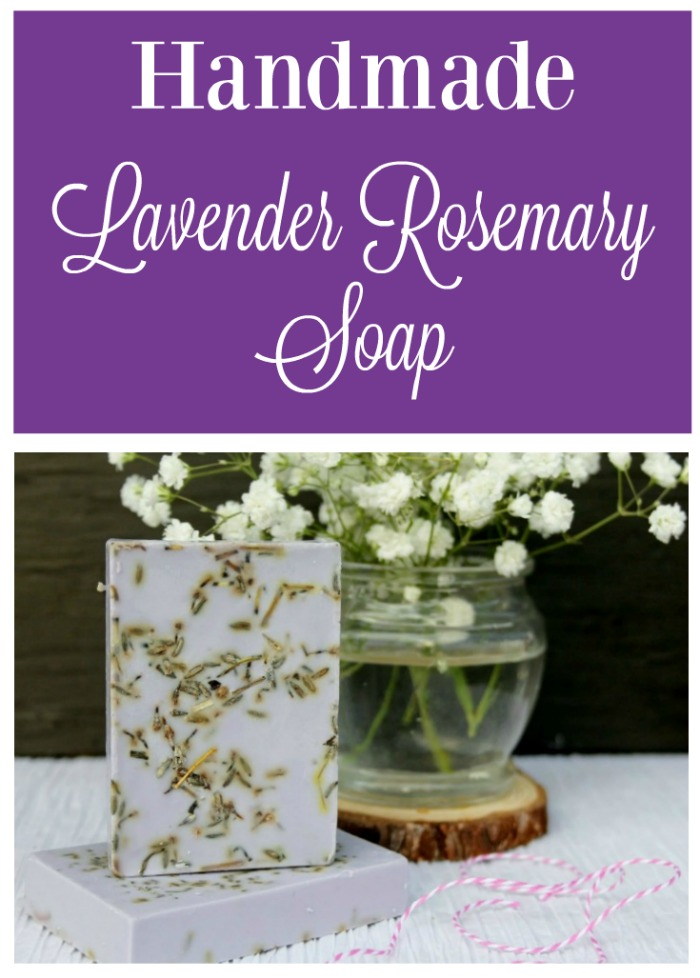 Handmade Lavender Rosemary Essential Oil Soap Recipe