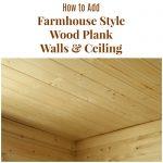 How to Install Farmhouse Bathroom Wood Plank Walls