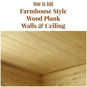 How to Install Farmhouse Bathroom Wood Plank Walls