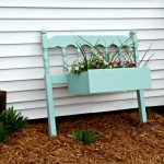 Repurposed Headboard Farmhouse Flower Planter