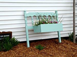Repurposed Headboard Farmhouse Flower Planter