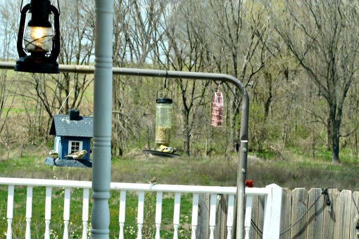 Turn an old swing set into a bird feeding station! Your bird friends will love it! #KnickofTime #birdyourworld #birdfeeders | www.knickoftime.net