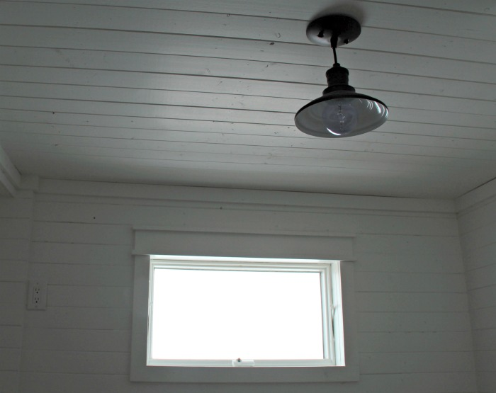 Farmhouse Bathroom Wood Plank Walls & Ceiling | www.knickoftime.net