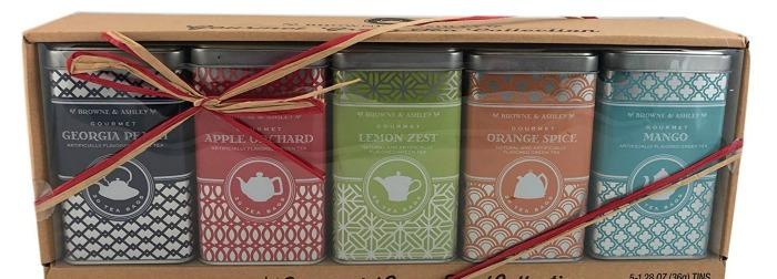Brown & Ashley Green Tea Tins