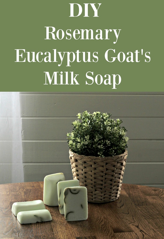 Make some Natural Garden Fresh Rosemary Eucalyptus Goat's Milk Soap! |www.knickoftime.net #hanmade #soap garden #giftideas #organic #Knickof Time #farmhousestyle