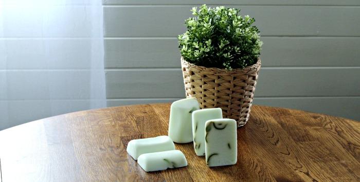 Make some Natural Garden Fresh Rosemary Eucalyptus Goat's Milk Soap!  www.knickoftime.net #hanmade #soap garden #giftideas #organic #Knickof Time #farmhousestyle