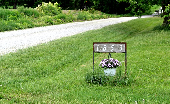 House Numbers Address Sign Hanging Planter