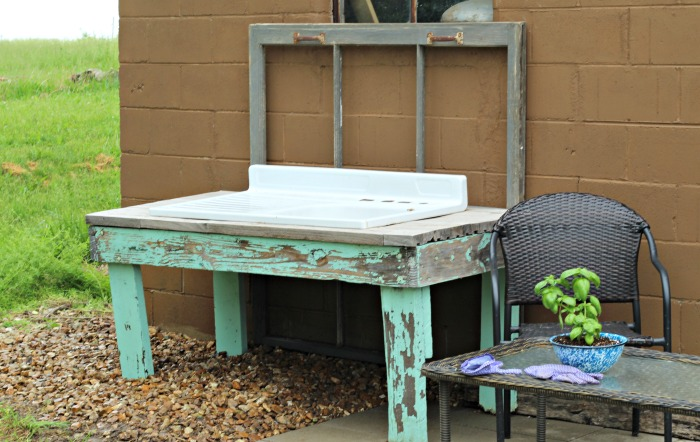 Patio Farmhouse Sink Potting Bench   Knick of Time