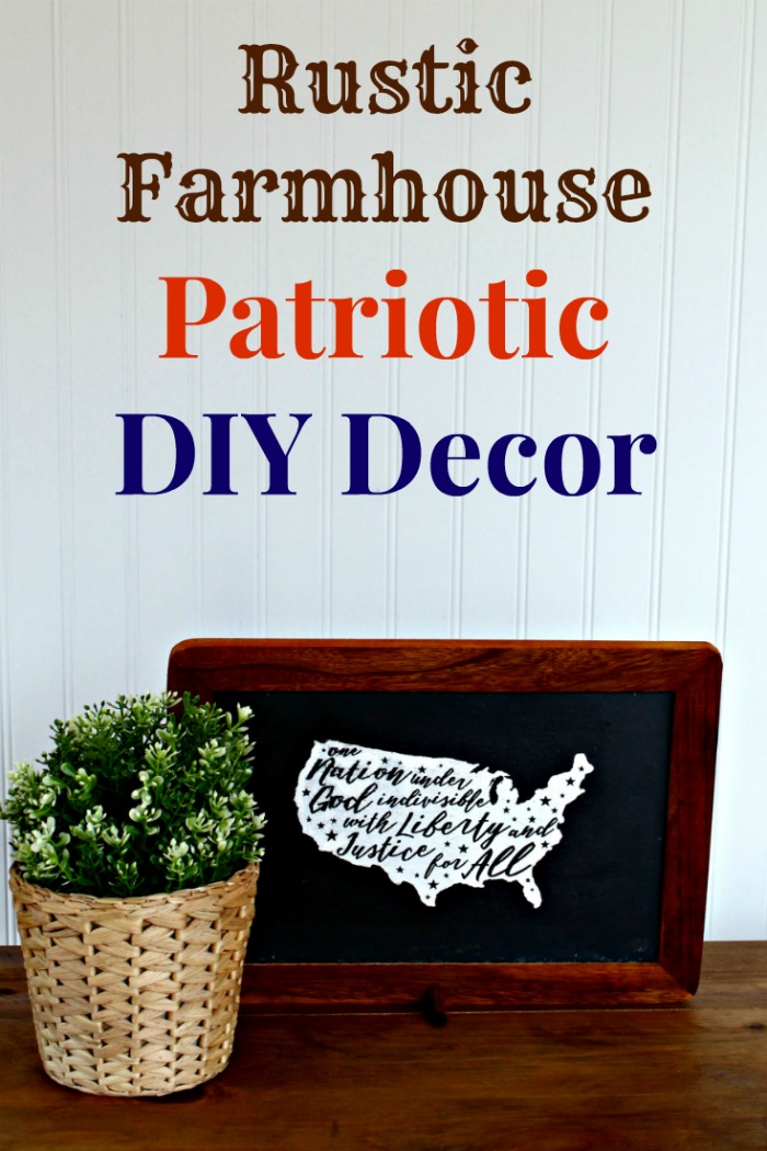 DIY Rustic Farmhouse Patriotic USA Shape Sign
