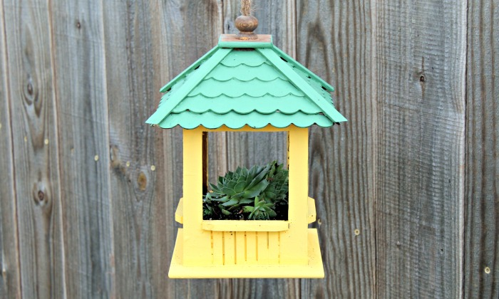 DIY Gazebo Succulent Hanging Planter | knick of time.net