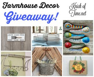 Farmhouse Decor Gift Certificate Giveaway