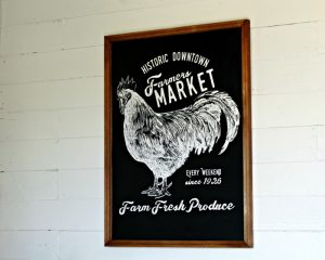 Incredibly Beautiful DIY Farmers Market Chalkboard