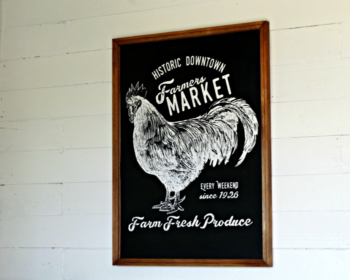 Farmhouse Style DIY Home Decor Farmers Market Chalkboard | www.knickoftime.net