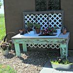 Patio Farmhouse Sink Potting Bench