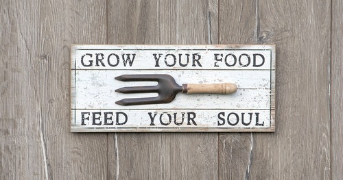 Grow Your Food Feed Your Soul farmhouse kitchen garden sign |www.knickoftime.net