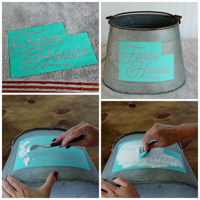 How to make a Galvanized Farmhouse Style Bucket Planter   knickoftime.net