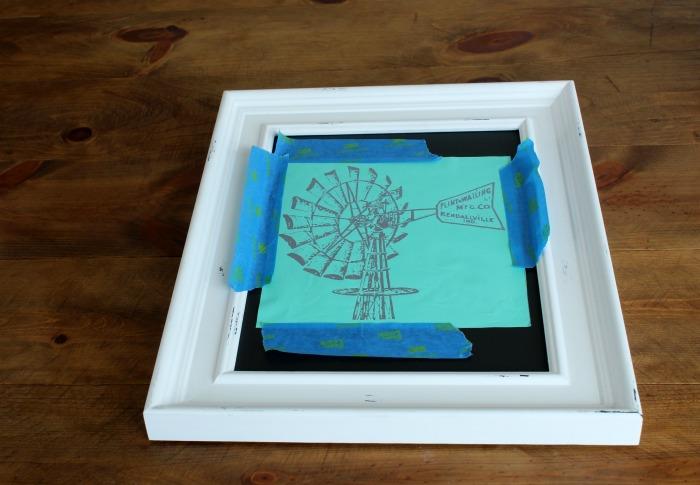 Making a Farmhouse windmill chalkboard with Chalk Couture transfer | www.knickoftime.net