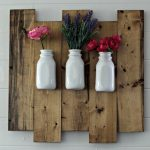 Joanna Gaines Style Farmhouse Rustic Wood Hanging Milk Bottle Flower Vase