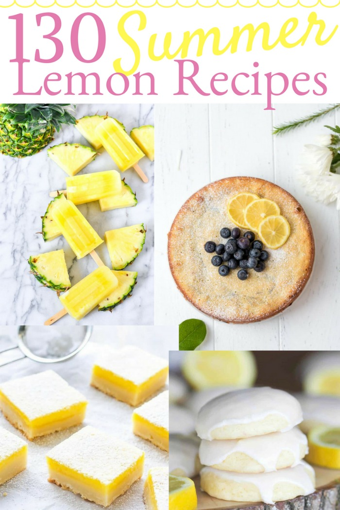 130 Summer Dessert Lemon Recipes! | #KnickofTime #desserts #recipes #lemons #picnic #party #baking #inthekitchen | www.KnickofTime.net